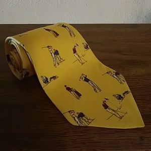 Ralph Lauren Polo Yellow Golf a Playing Necktie